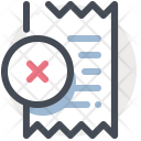 Invoice Cancel Sale Icon