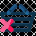 Cancel Shopping Basket Icon