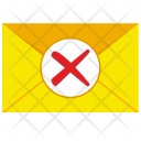Letter Cancel Mail Icon