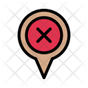 Location Delete Remove Icon