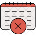 Cancel Schedule Meeting Icon