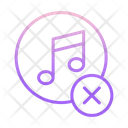 Cancel Music Icon