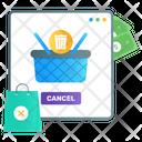 Online Order Cancel Order Denied Order Rejected Icon