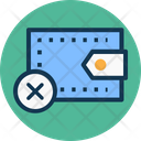 Cancel Payment Cross Sign Pocketbook Icon
