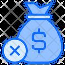 Cancel Payment Bag Money Icon
