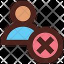 Cancel User Icon