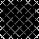 Canceled Symbol Shield Icon