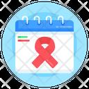 Cancer Day Calendar Icon