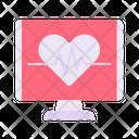 Cancer Diagnose Ecg Heartbeat Icon