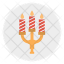 Candelabra Decoration Candles Icon