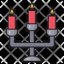 Candelabra Candles Church Icon