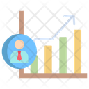 Artboard Candidate Growth Garph Icon
