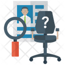 Candidate Search Human Resource Recruitment Icon