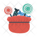 Candies Toffee Bag Icon
