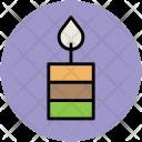 Candle Burning Church Icon