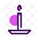 Candle Halloween October Icon