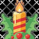 Candle Mistletoe Light Icon