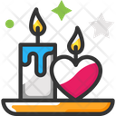 Candle Love Valentine Day Icon