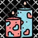 Candle Valentines Valentine Icon