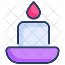 Candle Halloween Wax Icon