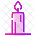 Valentine Day Candle Light Icon