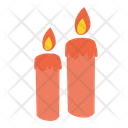 Candle Light Decoration Icon