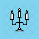 Candle Light Candelabra Icon
