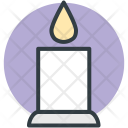 Candle Burning Decoration Icon