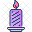 Candle Fire Decoration Icon
