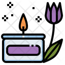 Candle Aroma Relaxation Icon