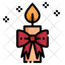 Candle Christmas Decoration Icon