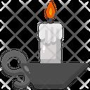 Candle Flame Illumination Icon
