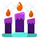 Candle Light Fire Icon