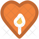 Candle Heart Shaped Icon