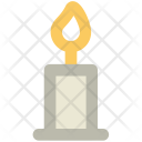 Candle Burning Spirituality Icon
