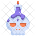 Candle Light Skull Icon