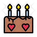 Candle Cake Sweets Icon