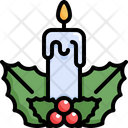 Candle Light Leaves Icon