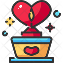 Candle Heart Light Icon
