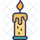 Candle Dinner Fire Icon