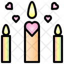 Candle Valentine Heart Icon