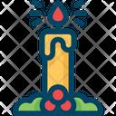 Candle Light Decoration Icon