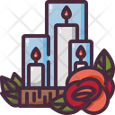 Candle Love And Romance Romantic Icon