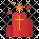 Candle Cross Religion Icon