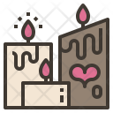 Candle Light Valentine Icon