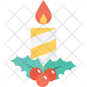 Burning Candle Decoration Icon