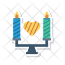 Candle Flame Love Icon