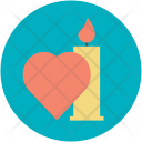 Candle Dinner Date Icon
