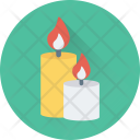 Burning Candle Decoration Icon