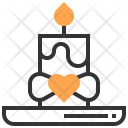 Candle Light Heart Icon